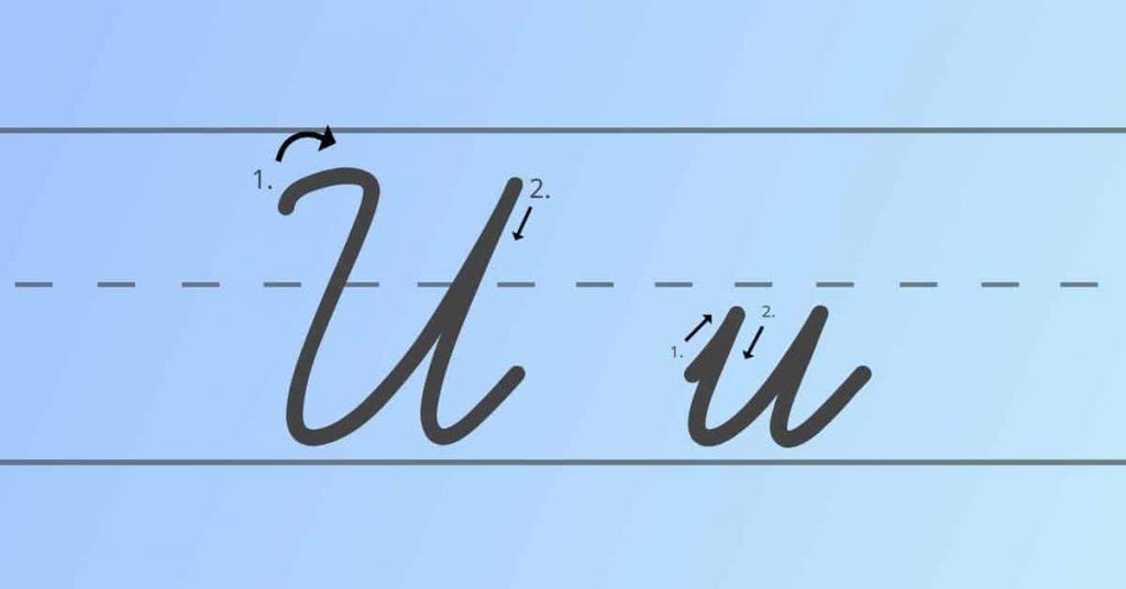 cursive capital U