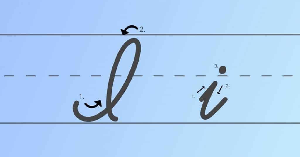 capital l in cursive