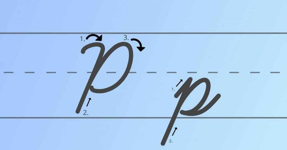 Cursive capital p